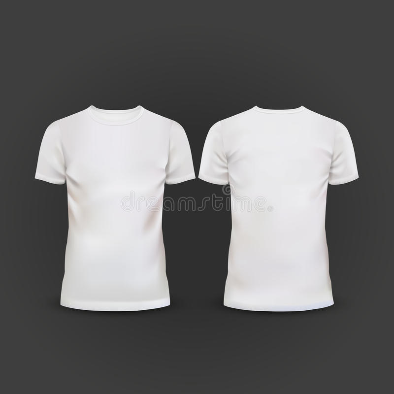 white t shirt template isolated on black stock photo image 49435162. Black Bedroom Furniture Sets. Home Design Ideas