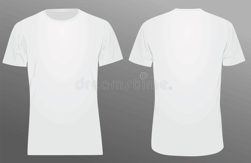 White t shirt template stock vector. Illustration of blank - 114897588