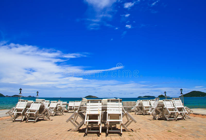 Download White table and blue sky stock photo. Image of relaxation - 20811228