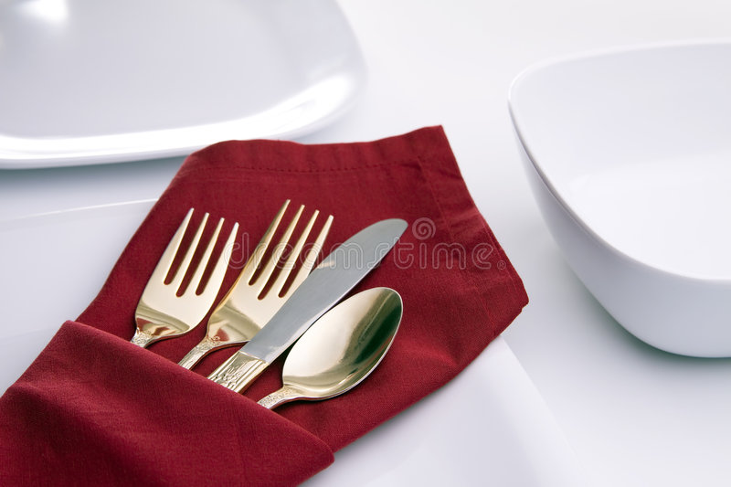 Download White Table Setting stock image. Image of table, dinner - 7695587