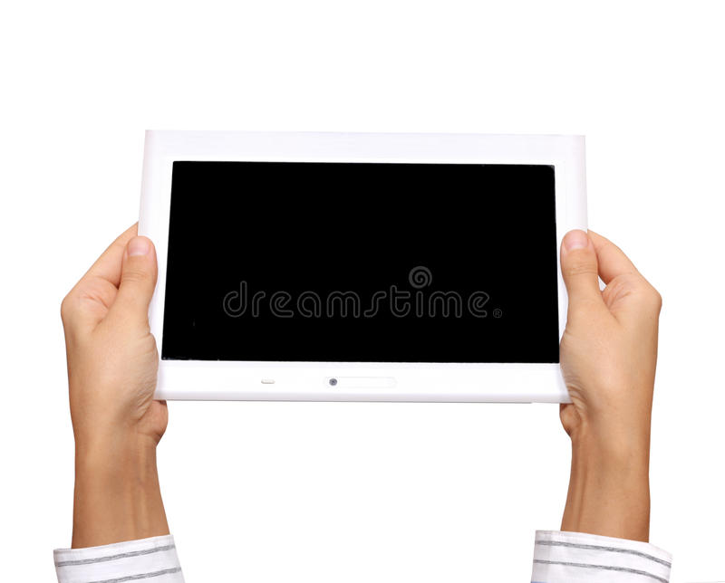 Download White tablet pc stock image. Image of hand, empty, blank - 23199991