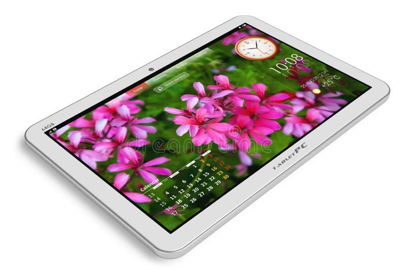 Download White tablet PC stock illustration. Image of communicator - 25152477