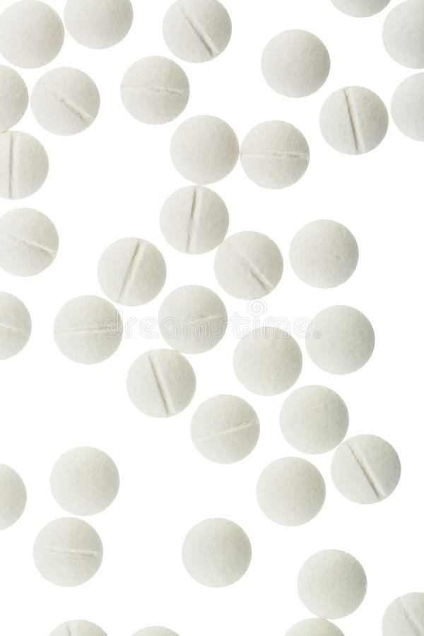 White tablets stock images