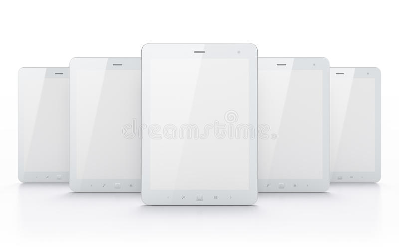 Download White Tablets On White Background Stock Illustration - Illustration of laptop, multimedia: 24374060
