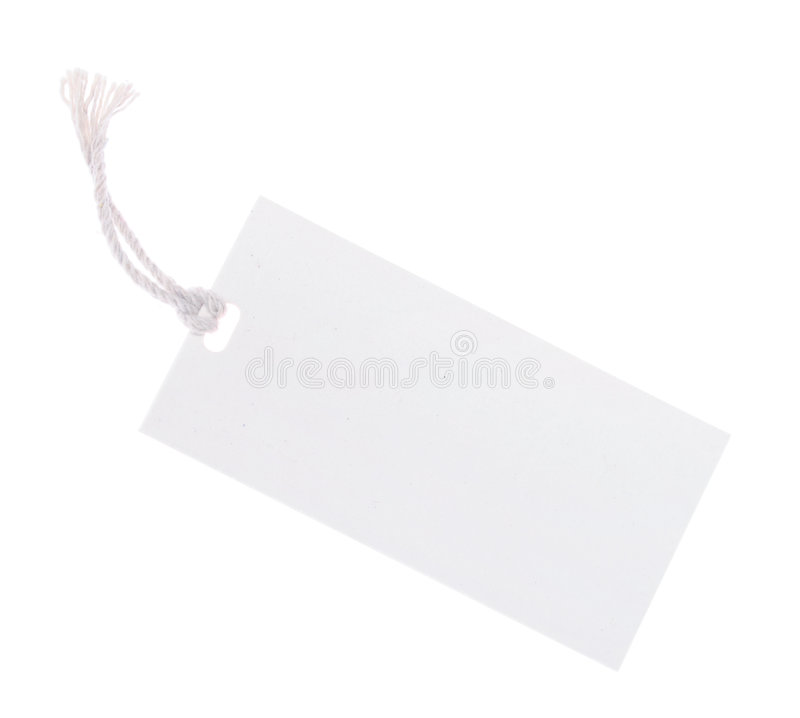 Download White Tag (with Clipping Path) Stock Photo - Image: 2283444