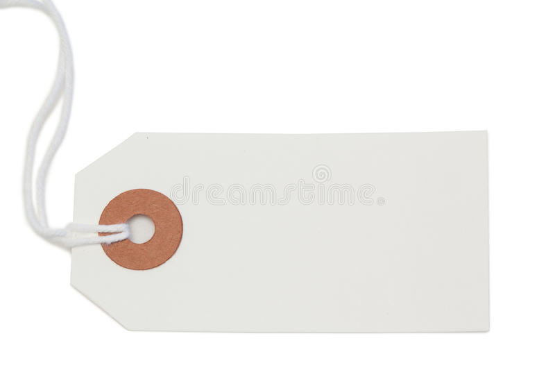 White tag isolated royalty free stock photography
