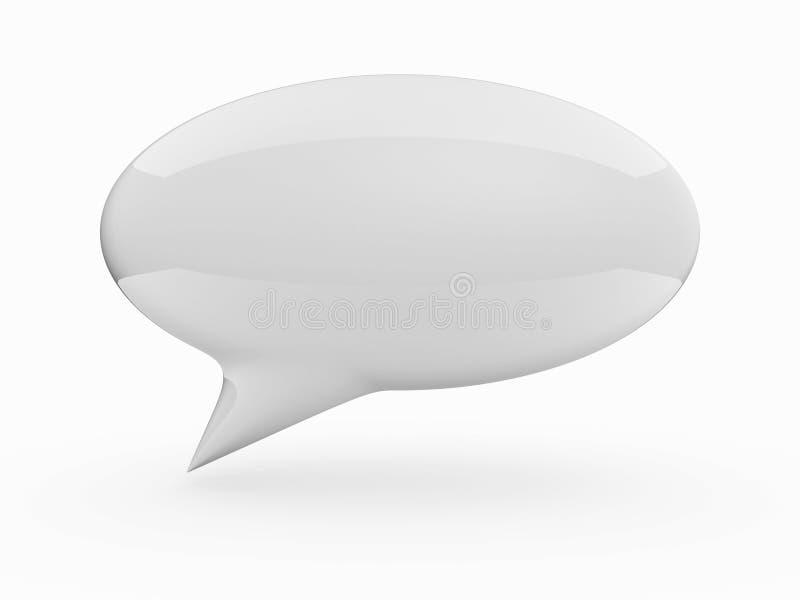 White Talk Cloud Royalty Free Stock Photo