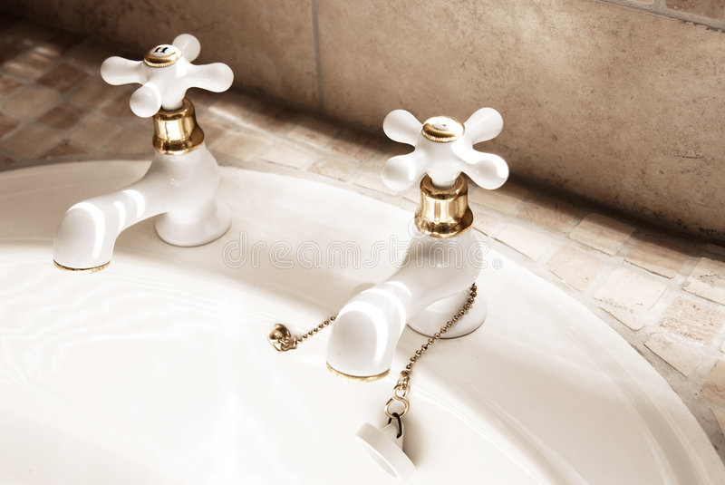 Download White Taps In Modern Bathroom Stock Photo - Image: 2281724