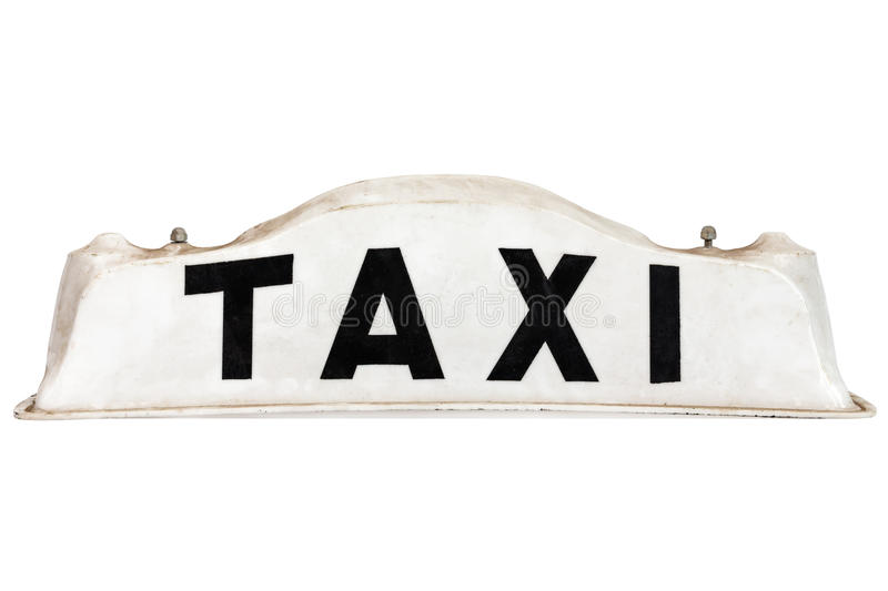 White taxar taktecknet som isoleras på white royaltyfri bild