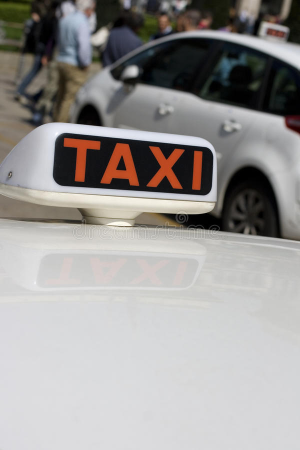 Download White taxi stock photo. Image of stand, passenger, automobile - 24804324
