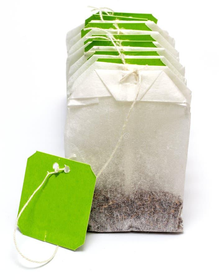 White Tea Bag royalty free stock photos
