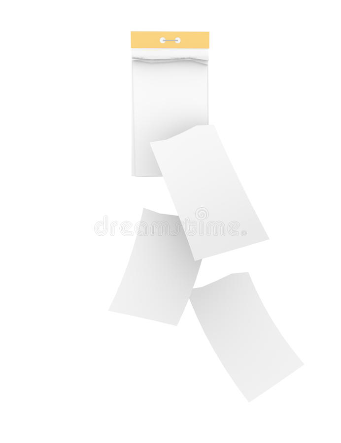 Free White Tear-off Calendar With Detached Sheets Stock Image - 52237431