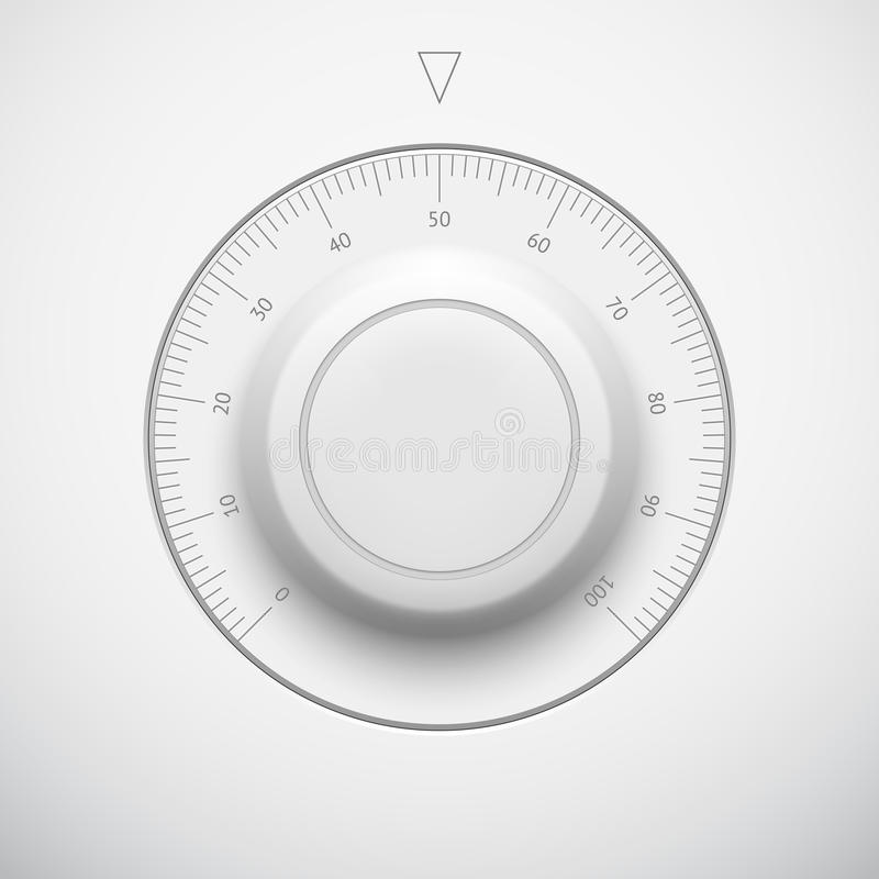 Volume Control Button : White technology volume button with scale royalty free