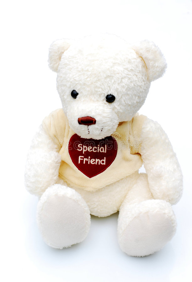 White teddy. Shot of a white teddy bear isolated royalty free stock photography