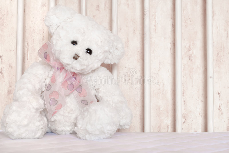 White teddy bear stock photos
