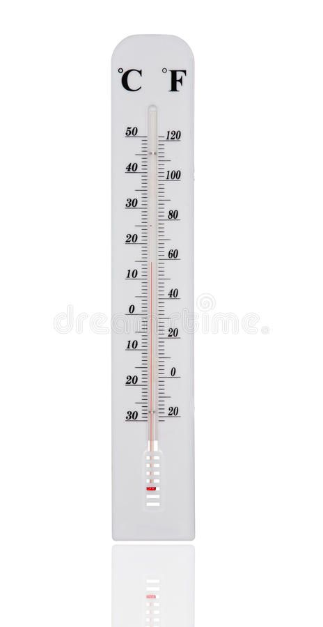 White Temperature Gauge Royalty Free Stock Images