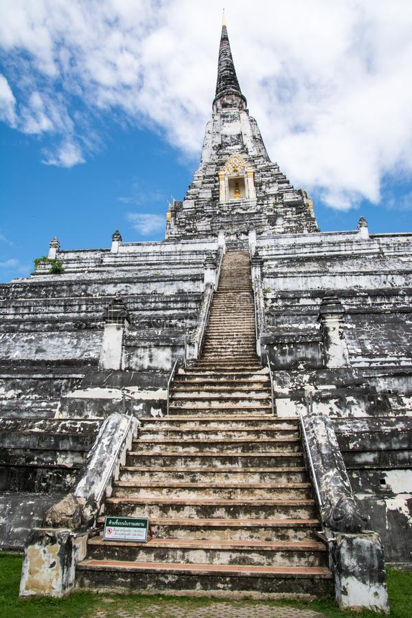 White Temple Phu Khao Thong, Ayutthaya, Thailand royalty free stock photos