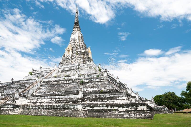 White Temple Phu Khao Thong, Ayutthaya, Thailand stock image