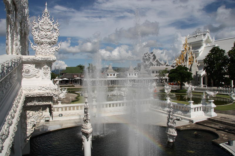 The White Temple in Thailand royalty free stock image