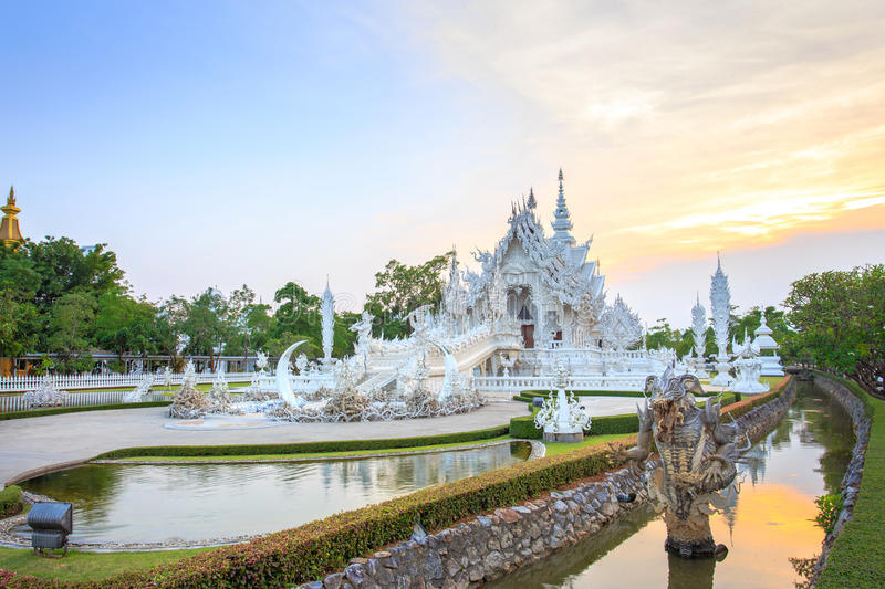 White Temple or Wat Rong Khun in Chiang Rai Province, Thailand royalty free stock photos