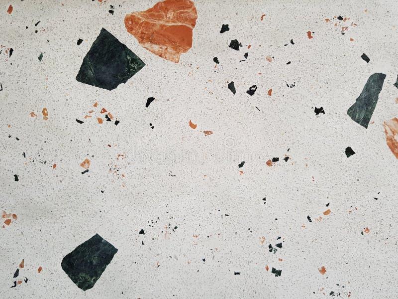 White Terrazzo Stone Flooring, small tiles stock images