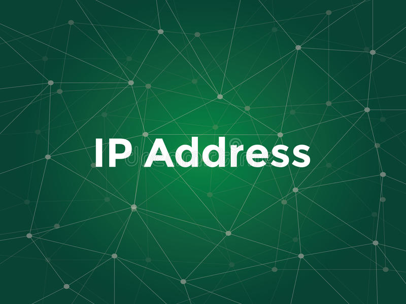 White text illustration for ip address concept - is a numerical label assigned to each device participating in a vector illustration