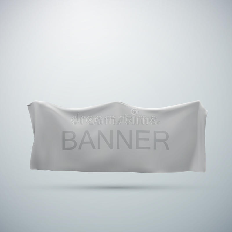 White textile banner mock-up royalty free illustration