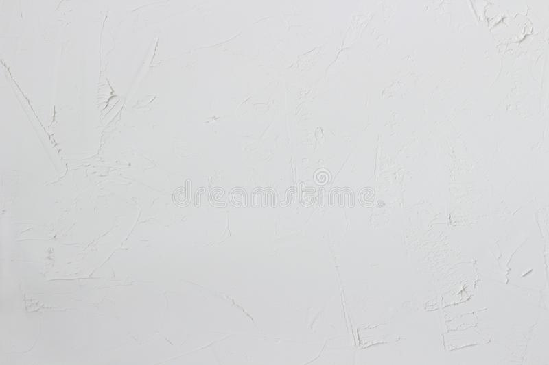 white textural background. white concrete, rough uneven plaster, stone raw wall. royalty free stock images