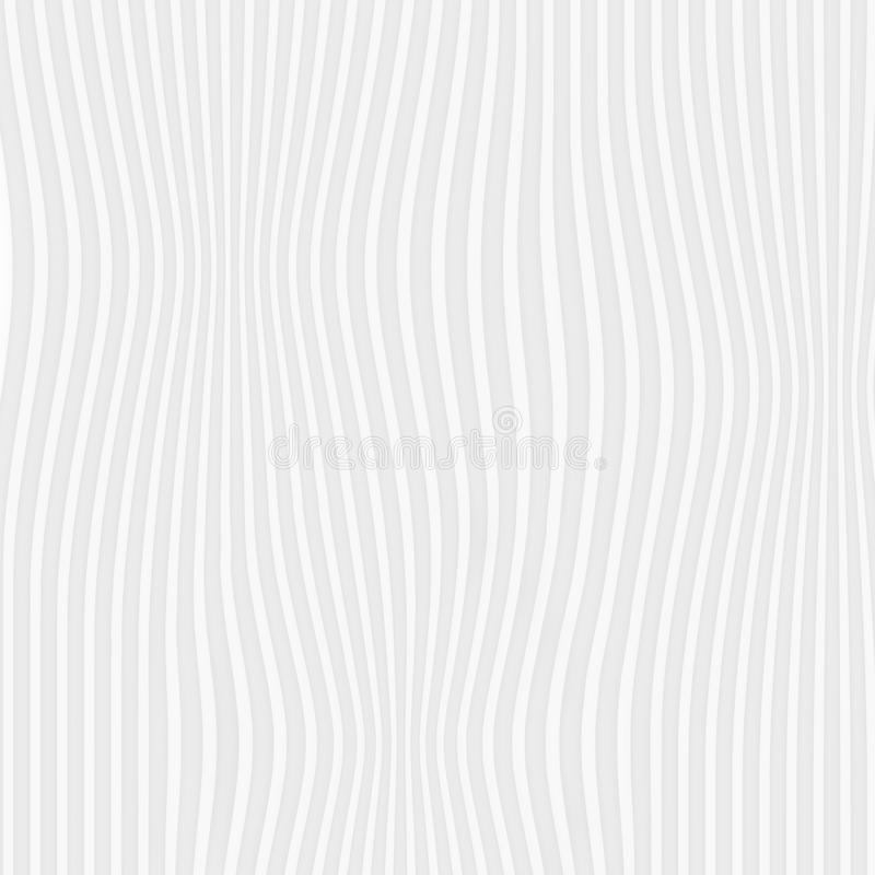 White texture. abstract pattern seamless. expand line nature geo. Metric modern. on white background for interior wall 3d design. vector illustration stock illustration