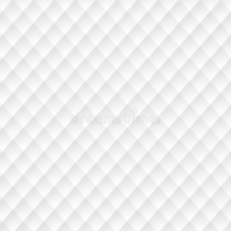 White texture. abstract pattern seamless. square mesh geometric. Modern. on white background for interior wall 3d design. vector illustration royalty free illustration