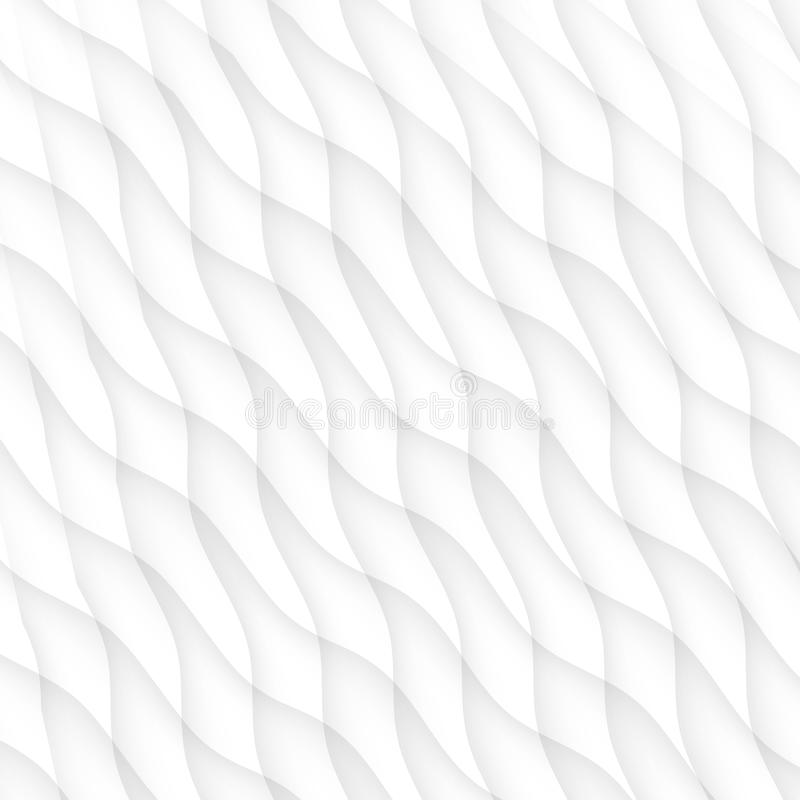 White texture. abstract pattern seamless. wave wavy nature geometric modern. On white background for interior wall 3d design. vector illustration royalty free illustration