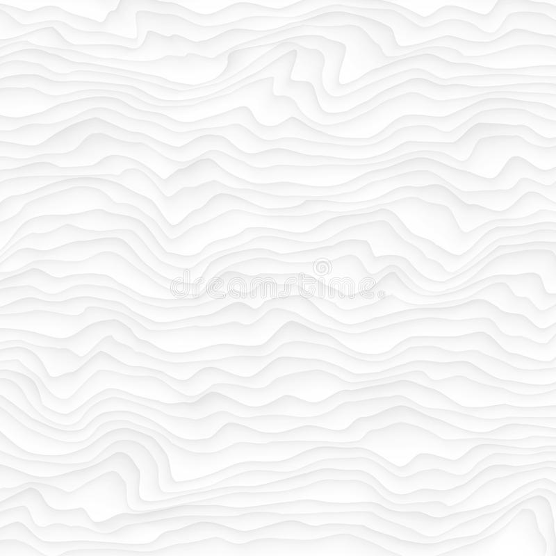 White texture. abstract pattern seamless. wave wavy nature geometric modern. On white background for interior wall 3d design. vector illustration stock illustration
