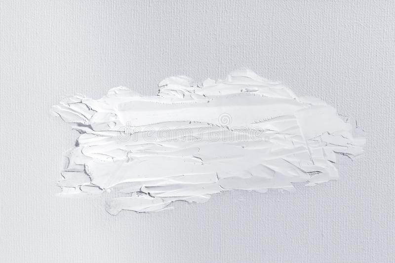White texture, white acrylic painting detail for mapping on canvas oil painting and 3D texture. White texture, white acrylic painting detail for mapping on royalty free stock images