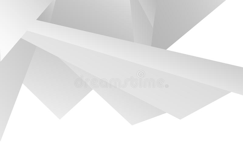 White texture background. Vector white texture background, abstract lowpoly triangles, geometric shapes with shadows, light volume paper backdrop, 3d style vector illustration