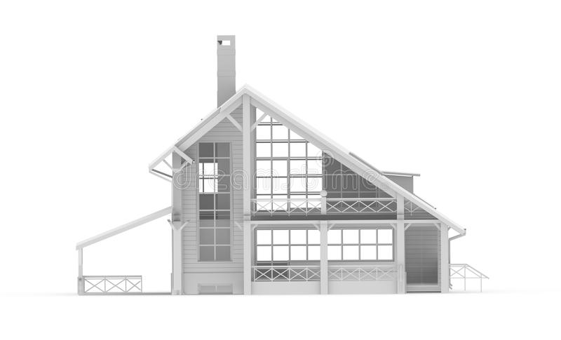 Download White texture-less house stock illustration. Image of mansion - 19276203