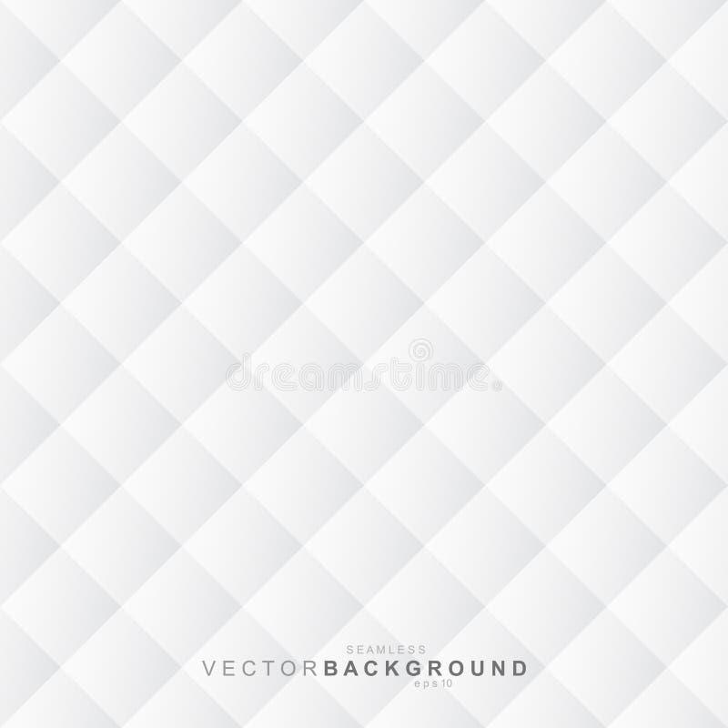 White texture, seamless background. White decorative geometric texture - seamless vector background royalty free illustration