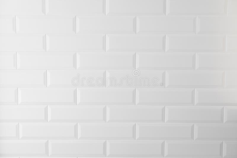 White texture tiles in the kitchen or bathroom royalty free stock photography