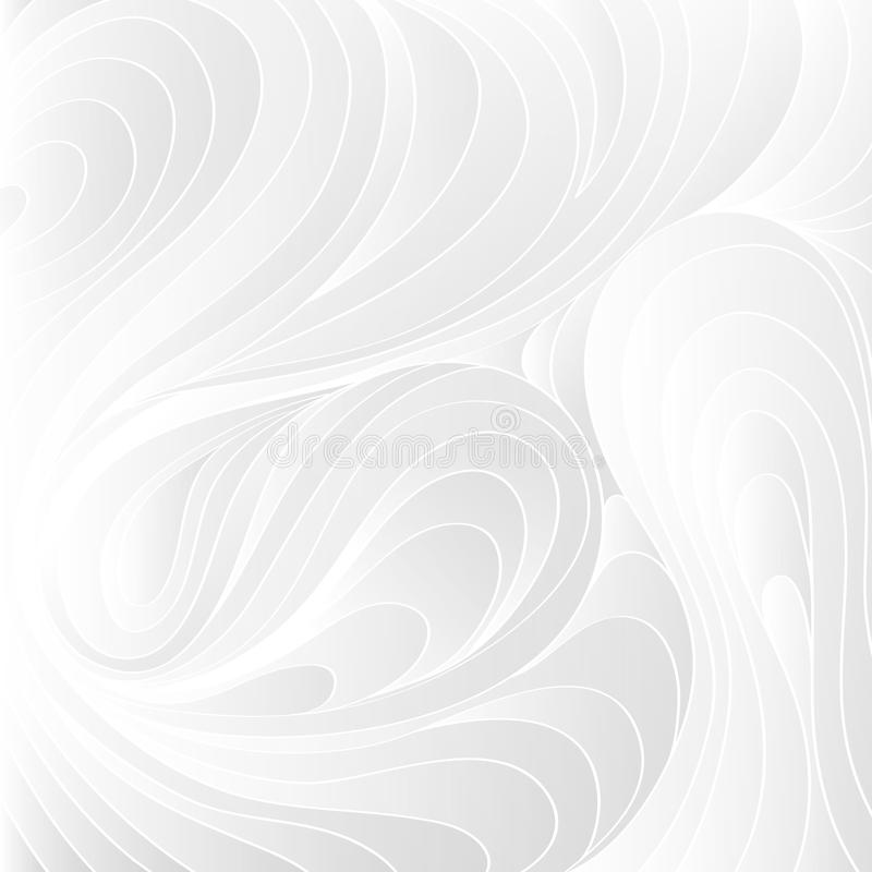 White texture. Wavy background. Interior wall decoration. 3D Vector interior wall panel pattern. stock illustration