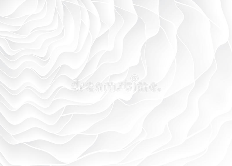 White texture. Wavy background. Interior wall decoration. 3D Vector interior wall panel pattern. royalty free illustration