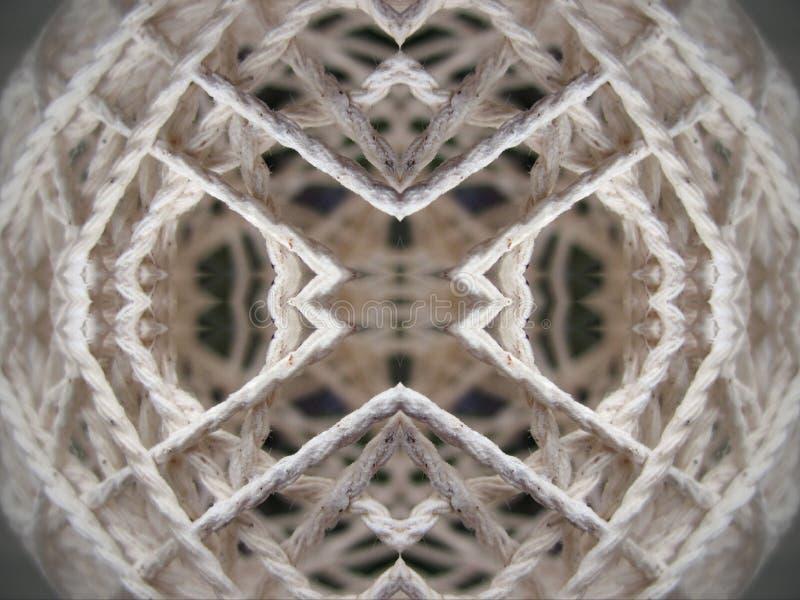 White thread abstract royalty free stock photos