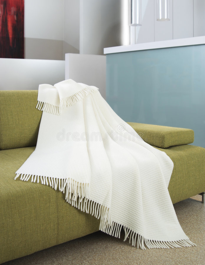 Download White Throw Draped Over A Settee Stock Photo - Image of fabric, residential: 7744238