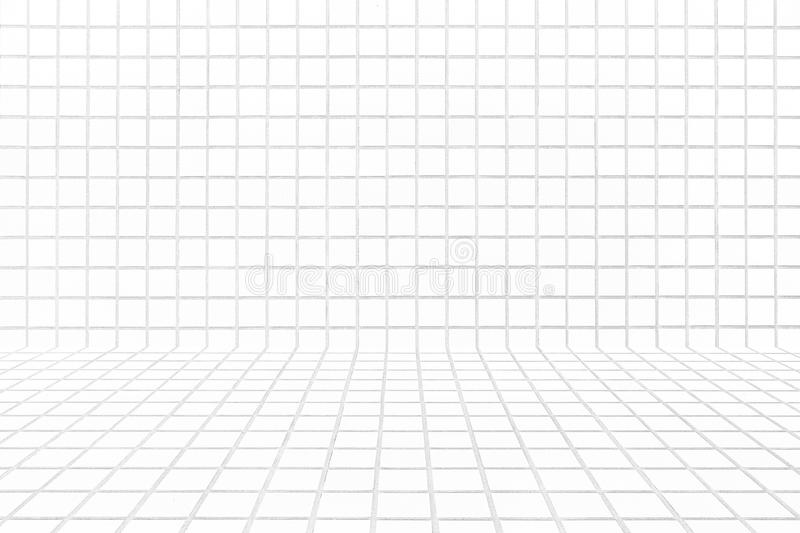 White tile floor seamless background and texture. White brick tile wall or White tile floor seamless background and texture royalty free stock image