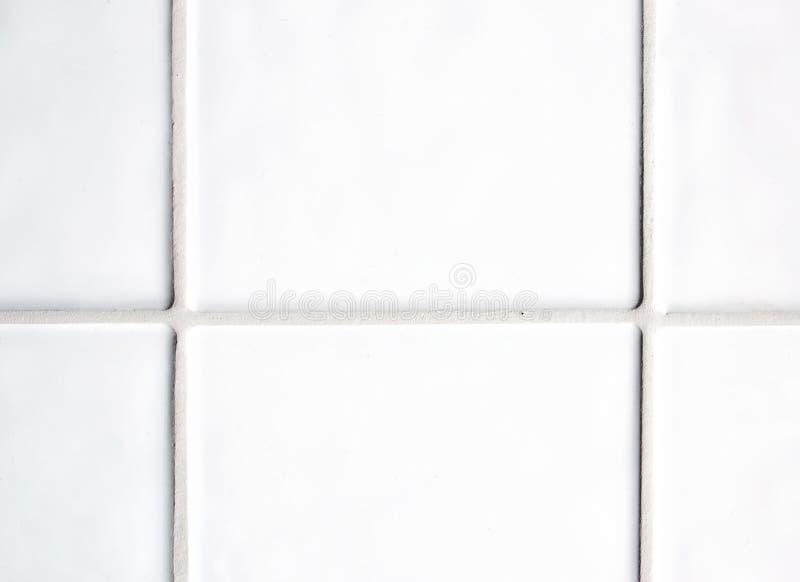 White tiles stock photo