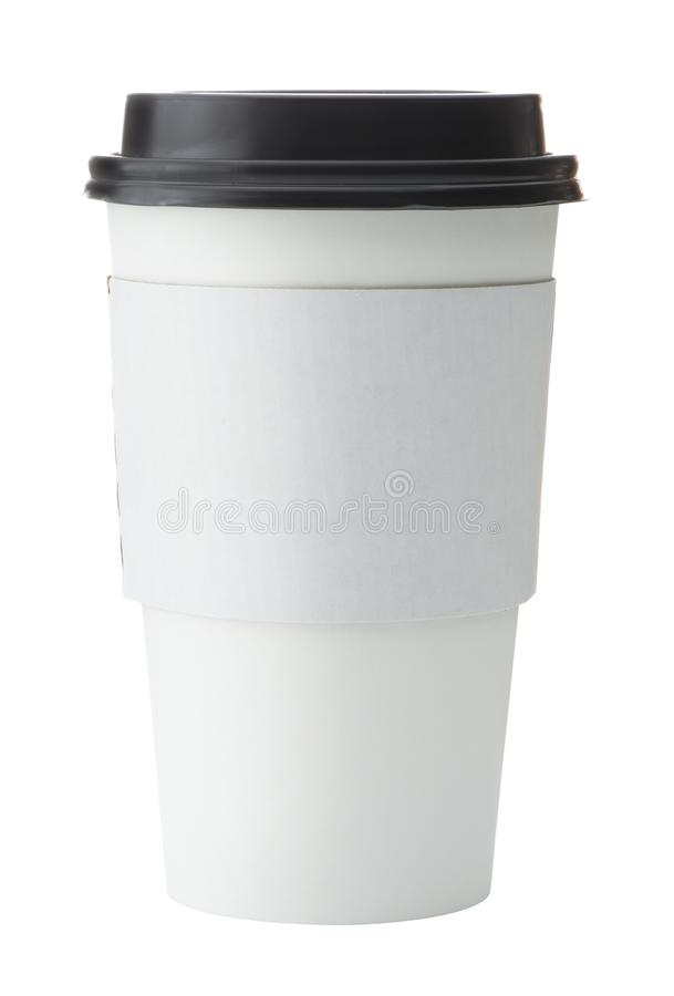 Free White To Go Coffee Cup With Black Lid Royalty Free Stock Photography - 115456857