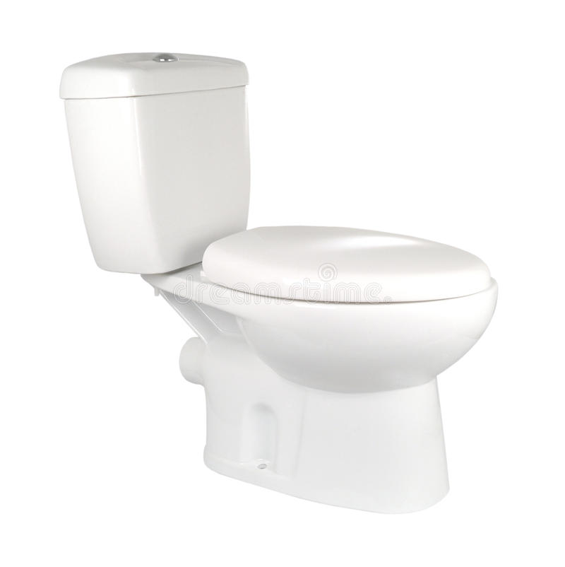 White toilet stock photos