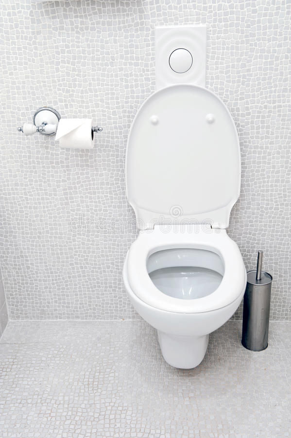 White toilet royalty free stock photography