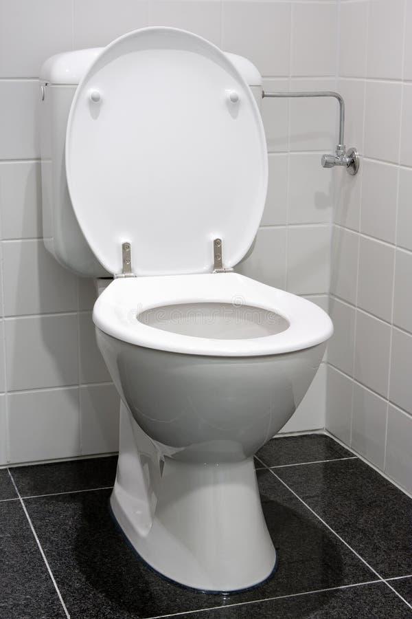 White toilet stock photo