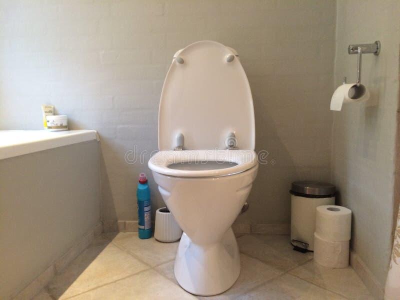 White toilet stock photography