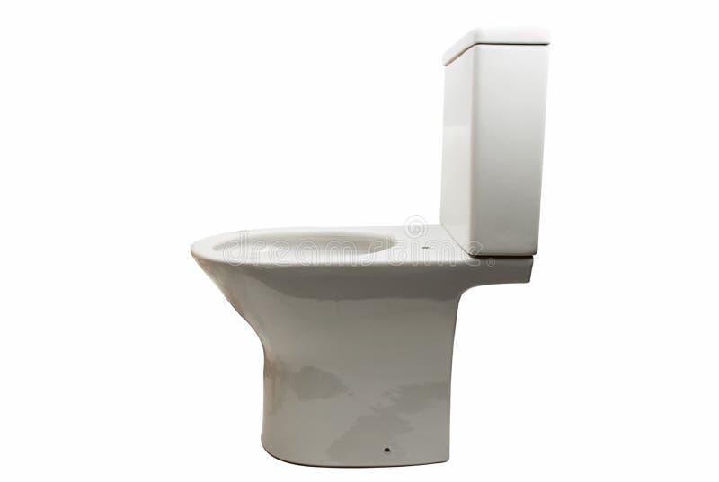 White toilet bowl isolated. On white background royalty free stock photos