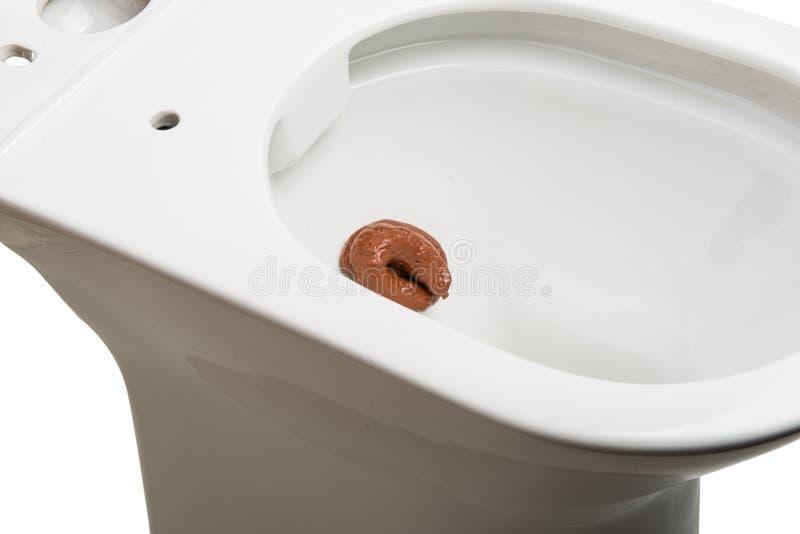 White toilet bowl isolated. On white background royalty free stock images